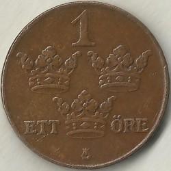 Moneda > 1ore, 1910-1950 - Suecia  - reverse