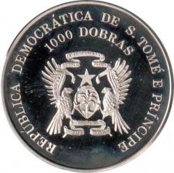 العملة > 1000دوبرا , 1996 - سان تومي وبرينسيبي  (XXVI summer Olympic Games, Atlanta 1996 - Swimming) - obverse
