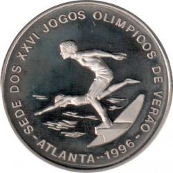 العملة > 1000دوبرا , 1996 - سان تومي وبرينسيبي  (XXVI summer Olympic Games, Atlanta 1996 - Swimming) - reverse