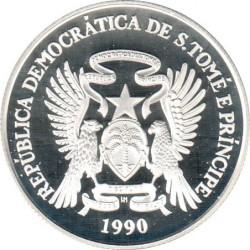 Pièce > 1000dobras, 1990 - Sao Tomé-et-Principe  (XXVes Jeux Olympiques d'été, Barcelone 1992 - Natation) - obverse
