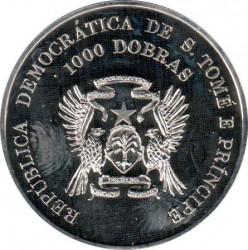 Moneta > 1000dobras, 1996 - São Tomé e Príncipe  (100° anniversario - Giochi olimpici estivi ) - obverse