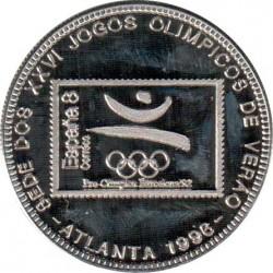 Moneta > 1000dobras, 1996 - São Tomé e Príncipe  (100° anniversario - Giochi olimpici estivi ) - reverse