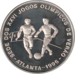 Moneta > 1000dobras, 1996 - São Tomé e Príncipe  (XXVI Giochi olimpici estivi, Atlanta 1996 - Calcio) - reverse