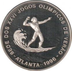 Moneta > 1000dobras, 1996 - São Tomé e Príncipe  (XXVI Giochi olimpici estivi, Atlanta 1996 - Surf) - reverse