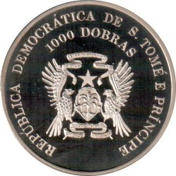 מטבע > 1000דוברה, 1996 - סאו טומה ופרינסיפה  (XXVI summer Olympic Games, Atlanta 1996 - Track and field) - obverse