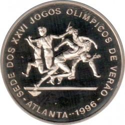 Moneta > 1000dobras, 1996 - São Tomé e Príncipe  (XXVI Giochi olimpici estivi, Atlanta 1996 - Atletica leggera) - reverse