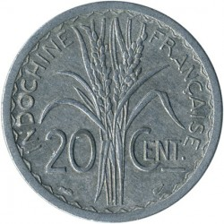 Монета > 20сантимов, 1945 - Французский Индокитай  - reverse