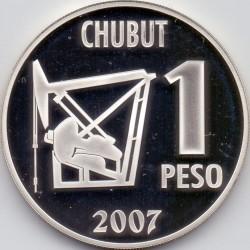 Moneda > 1peso, 2007 - Argentina  (100º Aniversario - Primer Pozo de Petróleo en Argentina) - reverse