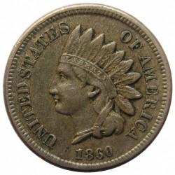 Moneda > 1centavo, 1860-1864 - Estados Unidos  (Céntimo Cabeza de indio) - obverse