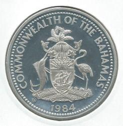 Монета > 10долларов, 1984 - Багамы  (XXIII летние Олимпийские игры, Лос-Анджелес 1984) - obverse
