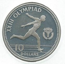 Монета > 10долларов, 1984 - Багамы  (XXIII летние Олимпийские игры, Лос-Анджелес 1984) - reverse