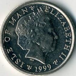 Moneta > 5pence, 1999 - Isola di Man  - obverse