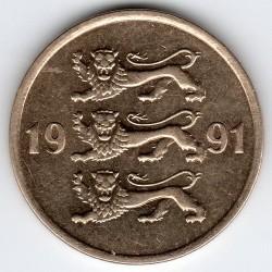 Minca > 10senti, 1991-2008 - Estónsko  - obverse