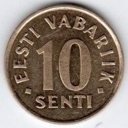 Minca > 10senti, 1991-2008 - Estónsko  - reverse