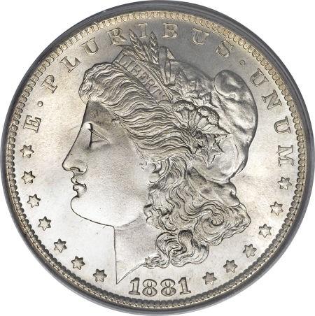 Usa 1 Dollar 1881 Morgan Dollar Km 110 Coin Catalog