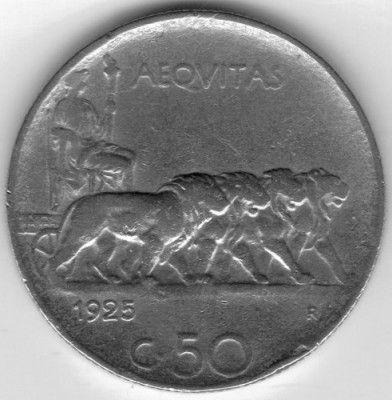 50 centesimi 1925 italia km 61 catalogo coniazioni for Moneta 50 centesimi