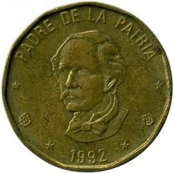 Minca > 1peso, 1991-1992 - Dominikánska republika  - obverse