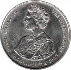 Moneta > 50pence, 1980 - Falkland (Isole)  (80° Anniversario - Nascita della Regina madre) - reverse