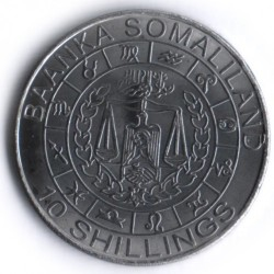 Moneda > 10 chelines, 2012 - Somalilandia  (Signs of the Zodiac Series - Aries /Nickel plated steel/) - reverse