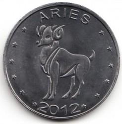 Moneta > 10szylingów, 2012 - Somaliland  (Znaki zodiaku - Baran /stal pokryta niklem/) - reverse