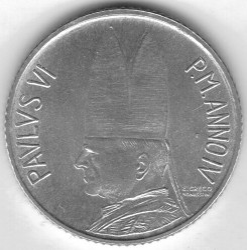 Moneta > 2lire, 1966 - Vaticano  - reverse