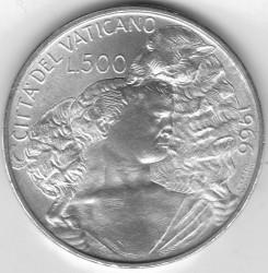 Monēta > 500liru, 1966 - Vatikāns  - reverse