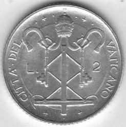 Mynt > 2lire, 1967 - Vatikanstaten  - reverse