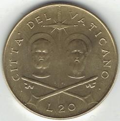 Mynt > 20lire, 1967 - Vatikanstaten  - reverse
