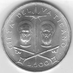 Монета > 500лири, 1967 - Ватикан  - reverse