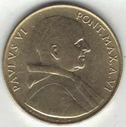 Minca > 20lire, 1968 - Vatikán  - reverse