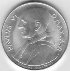 Moneta > 10lire, 1968 - Vaticano  - reverse