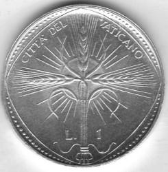 Mynt > 1lira, 1968 - Vatikanstaten  - reverse
