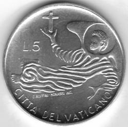 Moneta > 5lire, 1969 - Vaticano  - reverse