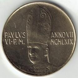 Monēta > 20liru, 1969 - Vatikāns  - obverse