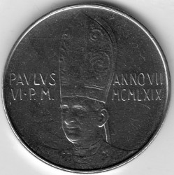 Moneta > 50lire, 1969 - Vaticano  - reverse