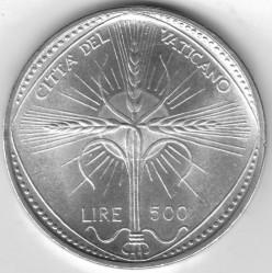 Monēta > 500liru, 1968 - Vatikāns  - reverse