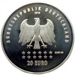 Moeda > 20euro, 2016 - Alemanha  (175 Anos do Hino Nacional da Alemanha ) - obverse
