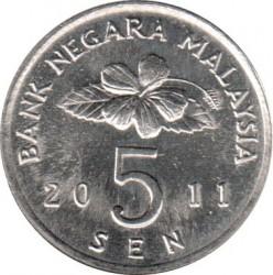 Кованица > 5сена, 1989-2011 - Малезија  - obverse