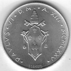 Кованица > 2лире, 1970-1977 - Ватикан  - reverse