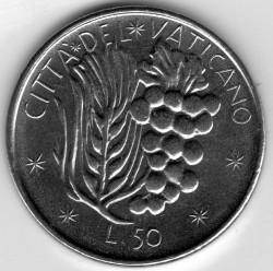 Moneta > 50lire, 1977 - Vaticano  - reverse