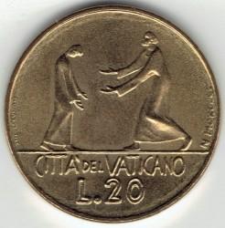 Mynt > 20lire, 1978 - Vatikanstaten  - reverse