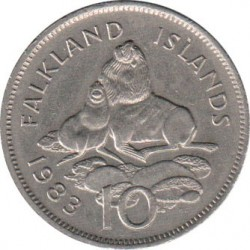 Coin > 10pence, 1974-1992 - Falkland Islands  - reverse