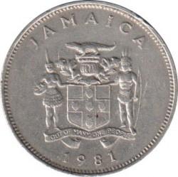 Moneta > 20centesimi, 1981-1988 - Giamaica  (FAO - Giornata mondiale dell'alimentazione del 16 Ottobre 1981/lettering JAMAICA largo/) - obverse