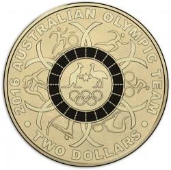 Moneda > 2dólares, 2016 - Australia  (XXXI Juegos Olímpicos de Verano, Río de Janeiro 2016 /círculo negro/) - reverse