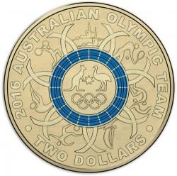 Moneta > 2dolary, 2016 - Australia  (XXXI Letnie Igrzyska Olimpijskie, Rio de Janeiro 2016/błękitny okrąg/) - reverse