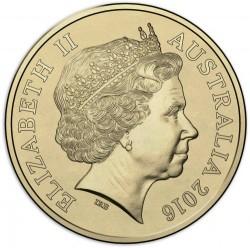 Монета > 2доллара, 2016 - Австралия  (XXXI летние Олимпийские Игры, Рио-де-Жанейро 2016 /жёлтое кольцо/) - obverse