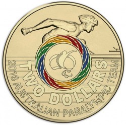 Coin > 2dollars, 2016 - Australia  (XV summer Paralympic Games, Rio de Janeiro 2016) - obverse