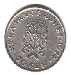 Pièce > 20sen, 1968-1977 - Brunei  - obverse