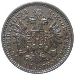 Moneda > 1kreuzer, 1858-1881 - Àustria  - obverse