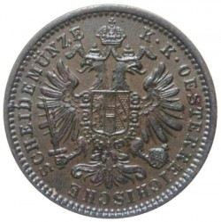 Moneta > 1krajcar, 1858-1881 - Austria  - reverse